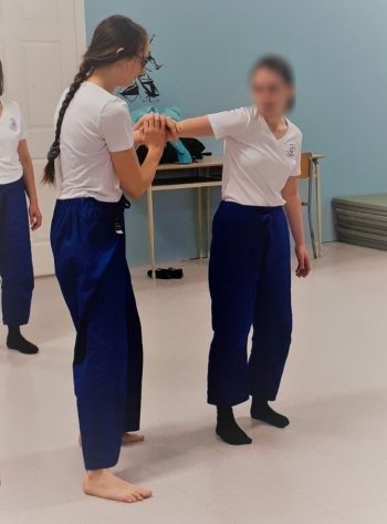 Beatrice at a martial arts class